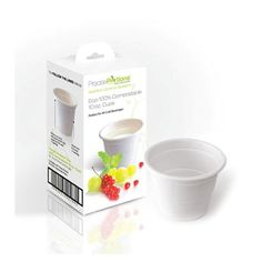 Do you want to easily measure the amount of juice or milk you are consuming? The Precise Portions compostable, disposable, 10 oz. beverage cup is pre-measured with 4 and 8 fluid oz. indicators, taking away the guesswork for recommended portion sizes.