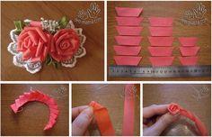 DIY Creative Ribbon Rose LIKE Us on Facebook ==> https://www.facebook.com/UsefulDiy