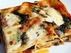 Ratatouille lasagna - herbs de Provence and gruyere cheese, all my favorite things