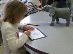 Elephant unit - KWL chart, dramatic play, still life drawings/paintings, measurement, etc