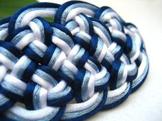 Hair Barrette  Shades of Blue by CLineCreations on Etsy