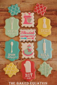These are a beautiful way to create a theme with the plaque cookie cutter!