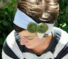 diy headband, craft, flower headbands, men shirts, tee shirts, hair, tshirt sleev, felt flowers, old t shirts