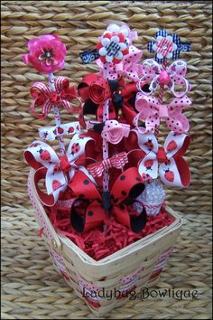 Bow gift basket.....love this idea so many possibilities!!!!