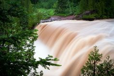 Gooseberry Falls, during the 2012 floods