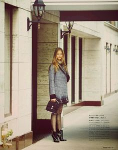 Anna Selezneva By Guy Aroch For Numéro Tokyo November 2013 (Louis Vuitton Coat)