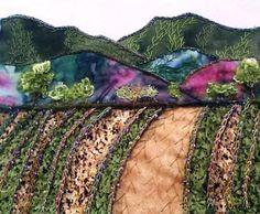 Shari J of Colorado creates a crazy-quilted landscape
