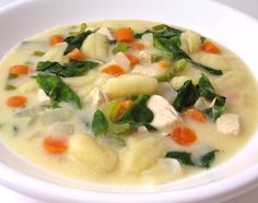 Olive Garden Chicken Gnocchi Soup Made Skinny. Each bowl has 299 ...