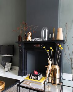 black fireplace / sfgirlbybay