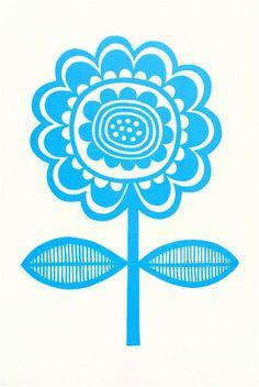 Blue Scandinavian flower