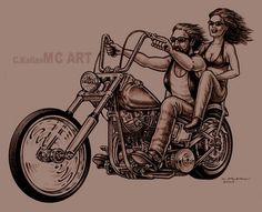 vintage motorcycle tattoos women | ... Tattoos: Biker tattoo designs, Harley davidson tattoos, Skull tattoos