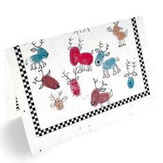 More thumbprints! Christmas Cards - Thumbprint Reindeer