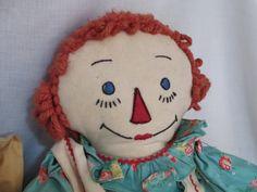 Raggedy Ann Doll Cloth c.1940's