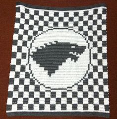 Awesome House Stark from Game of Thrones blanket!