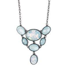 I love the Carol Dauplaise Large Oval Opal Collar Necklace from LittleBlackBag mints, opal collar, carol dauplais, collars, larg oval, necklaces, dauplais larg, collar necklac, oval opal