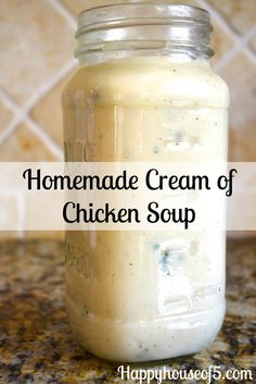 Homemade Cream of Chicken Soup