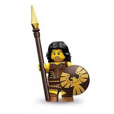LEGO Warrior Woman Minifigure - Whether fighting off wild beasts, pirates or dragons - she's not to be messed with.