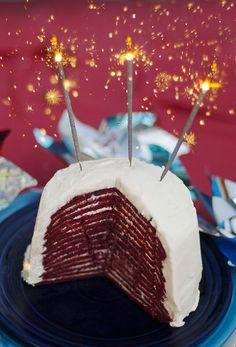 red velvet crepe cake!!!