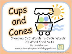 FREE - card set for matching cvc words to correponding cvce words
