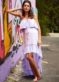 LOVE the high-low hemline to take this dress from a backyard BBQ to special occasion with a change of shoes