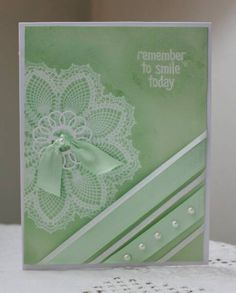 WT376 Doily Stamp Smile today by Holstein - Cards and Paper Crafts at Splitcoaststampers