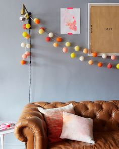 colorful string lights.