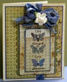 Live, Laugh, Love, Dream Handmade Card