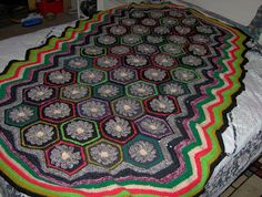 Birdies Crochet and Craft: Flower Child Hex Afghan