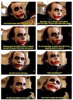 "Joker, The Dark Knight,... ""Why so serious?"" ...."