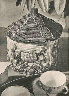 PDF Vintage Crochet Pattern My Cottage Tea Cosy 1930