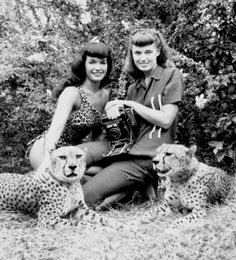 Bettie Page and Bunny Yeager