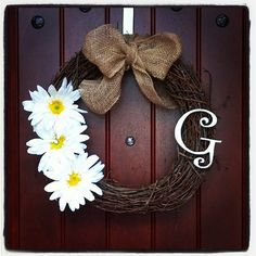 Personalize Wreath by ChevronCrazeArt on Etsy, $25.00