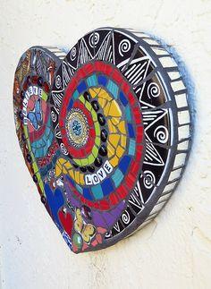 Mosaic Art Heart Custom Order