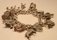 Vintage Charm bracelet  chicvintageboutique on etsy