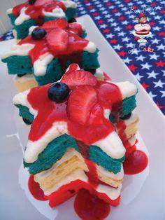 Patriotic Mini Star Cakes