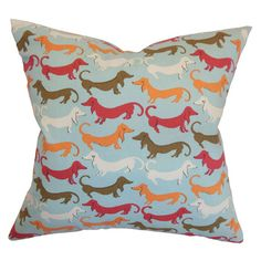 {Doxie Pal Pillow in Carnival} eep! love this print!