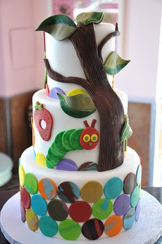 Very Hungry Caterpillar cake. no way!!!!!  @Desiree Noah--i want one of these for when i have kids.  :)