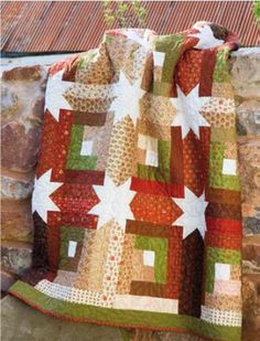 Log Cabin Hidden Stars Quilt