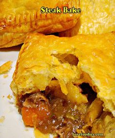 Steak Bakes - You can use any leftovers in these easy tasty bakes. Really easy to make and it's like a brand new meal!