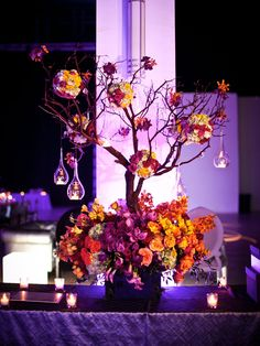 Fall Wedding Ideas - Tall Centerpieces | Wedding Planning, Ideas & Etiquette | Bridal Guide Magazine