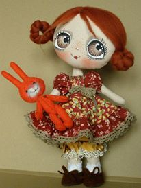 omg....those eyes! those big, beautiful eyes! i LOVE this dolly (and her little bunny, too)!....