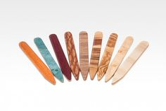 collarstays multi 650x433 Wood Collar Stays