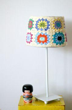 crochet lampshade #naturadmc
