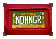 Hunger Relief License Plate.