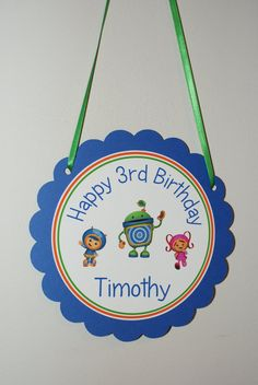 Team Umizoomi Door Sign via Etsy