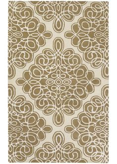 Candice Olson Modern Classics Damask Brown Hand Tufted Wool Rug