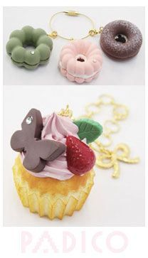 soft mold for clay donut & muffin from Japan #diy #clay #crafts