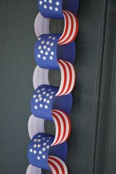 July 4th paper chain.