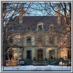 The Orchard Mansion from Narragansett Avenue. Newport, Rhode Island