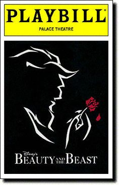 Beauty and the Beast broadway music, palac theatr, broadway playbil, playbil cover, broadway fav, cabaret playbill, beauty and the beast broadway, music theatr, theater